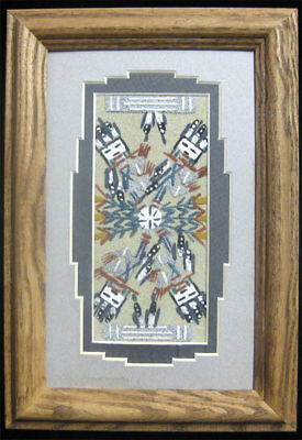 Authentic Navajo Sand Painting by Marlene Doby Framed w/COA Native American Art