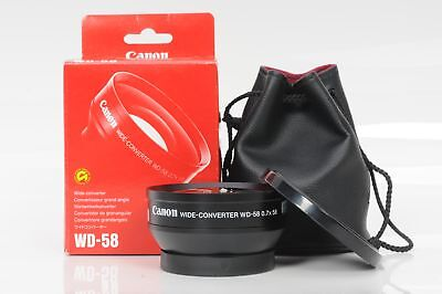 Canon Wide Angle Converter Lens WD-58 .7x58                                 #251