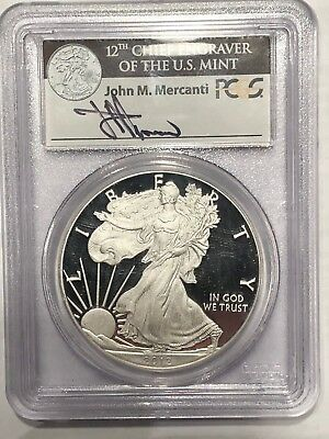 2012-S PROOF SILVER EAGLE PCGS PF69 DCAM First Strike MERCANTI - COIN & CURRENCY