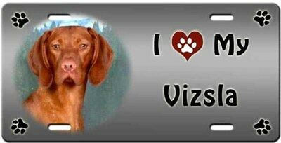 Vizsla License Plate - Love