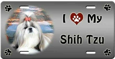 Shih Tzu License Plate - Love