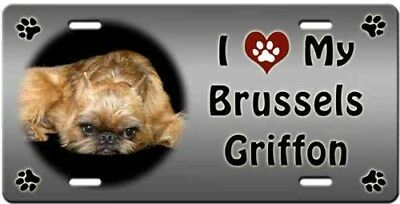 Brussells Griffon License Plate - Love