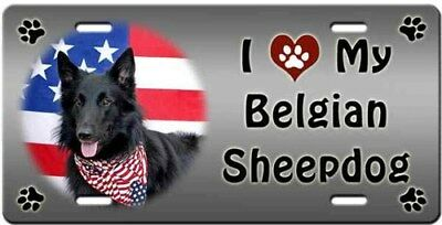 Belgian Sheepdog License Plate - Love