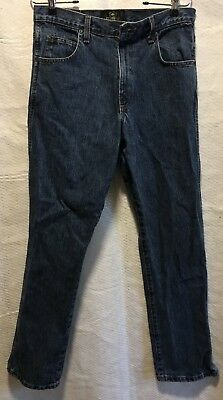 RedHead Bass Pro Men's Classic Straight Leg Denim Dark Wash Blue Jeans Sz 31x32