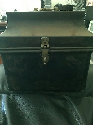 Antique Original Top hat Tin Hat Box - Antique Photography Prop / Display