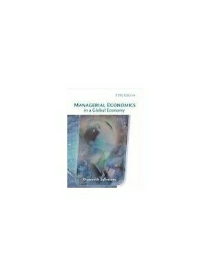 Managerial Economics in a Global Economy by Salvatore, Dominick Hardback Book