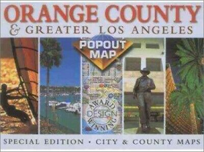 Orange County and Los Angeles (USA PopOut Maps) by Compass Maps Sheet map Book