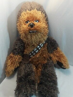 "Build A Bear Chewbacca w/ Sound! Plush Fluffy Soft 21"" Belt and Pouch  Star Wars"