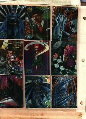 1995 Fleer Batman Forever Metal Trading Cards Complete Set NEAR MINT CONDITION