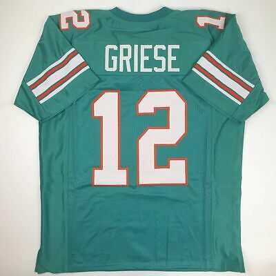 quality design 404c1 ef786 AUTH REEBOK NFL Bob Griese #12 Miami Dolphins Throwbacks ...
