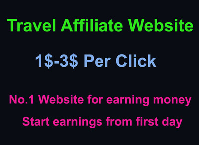 We will create profitable travel affiliate website for daily income