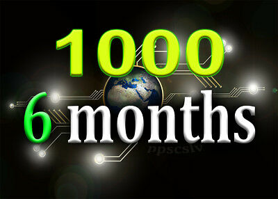 Get up to 1000 daily targeted visits for 6 months