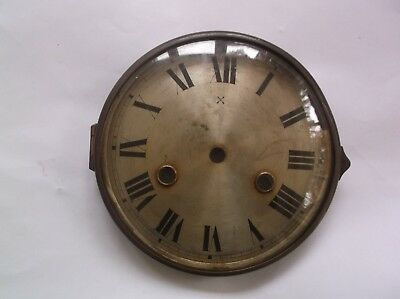 GLASS / RIM/FACE  FROM AN OLD HAC  MANTLE CLOCK  OUTER 5 1/2 inch diam  REF HAC