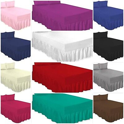 Percale Extra Deep 100% Cotton Blendpoly Fitted Valance Bed Sheets In All Sizes