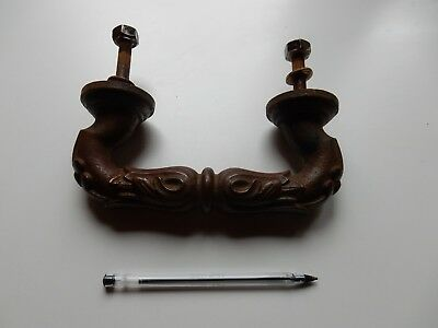 Large Tactile Victorian Iron  Front Or Main Door Handle  Strong ! Tactile