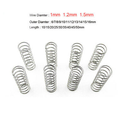 Wire Diameter 1mm 1.2mm 1.5mm Compressed Spring 304 Stainless Steel Mini Small