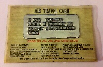 AMERICAN AIRLINES WRIGHT (BROTHERS) FIRSTAeronautical TRAVEL CARD FLIPSopen #370