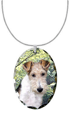 Wire Fox Terrier Pendant / Necklace