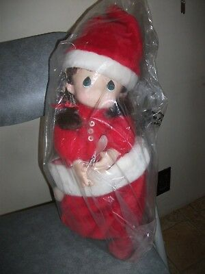 Precious Moments, Nicole Vinyl Doll In Red Christmas Pajamas 1994, 16""