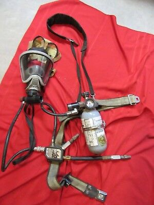 MSA PremAire System 2002 BOTTLE  MASK Supplied Air Respirator Harness 5 MINUTE
