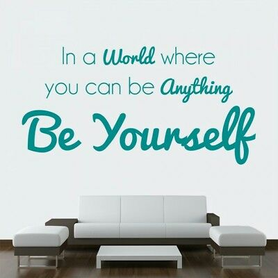 Be Yourself Wall Sticker Inspirational Quote Wall Decal Bedroom 45*60cm