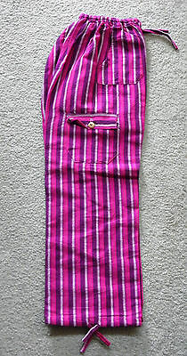 Made In Peru Cotton & Rayon Casual Colorful Baggie Pants Children Size #101062