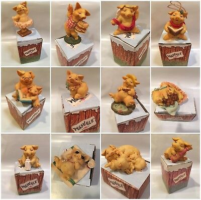 Vintage Ganz Pigsville Figurines IOB - You Choose - Excellent Used Condition!