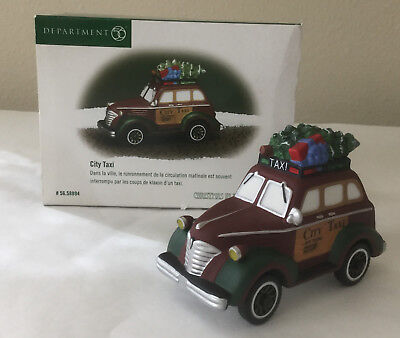 Dept 56 Heritage Village Christmas in the City-City Taxi 56.58894