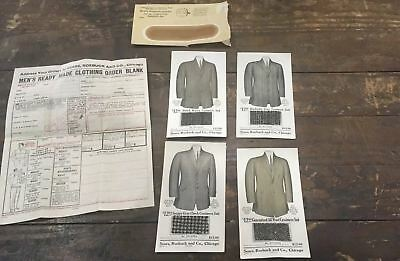1917 SeaRare 1917 Sears Roebuck Mail Order Cashmere Suit Advertising Swatches