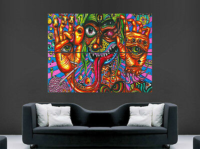 Trippy Abstract Poster Psychedelic Eyes  Print Image Giant Large