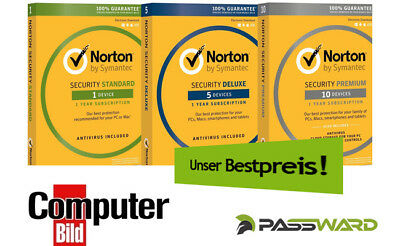 Norton Security - Alle Versionen - Sofortversand per E-Mail / Download