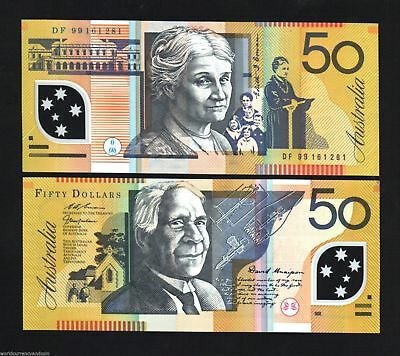Australia 50 Dollars P54 B 1999 Drawing Polymer Unc Money Bill Bank Note