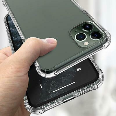 iPhone XR XS MAX Case Shock Proof Crystal Clear Soft Silicone Bumper Cover Slim