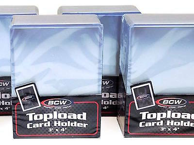 300 BCW Card Top Load Holders Rigid Plastic 3X4 Toploaders and 300 Card Sleeves