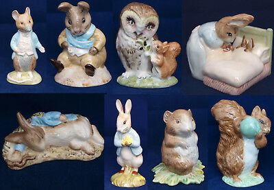 Beatrix Potter Royal Albert Bp6a figurines - SELECT FIGURE- Mint