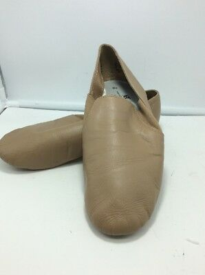 Adult ABT Tan Leather Split Sole Jazz Shoes Size 8.5