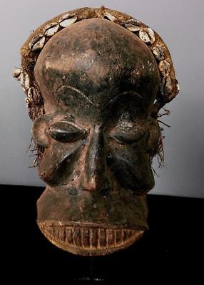 Old Tribal Dan   Guerre Wobe Mask  ---- Coted'Ivoire  BN 27