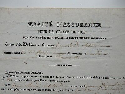 early french document   20 x 25 cm