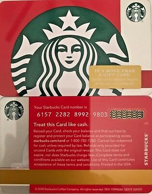 "2018 Starbucks Christmas ""red Green Siren"" Gift Card #6157 Mint No Value"
