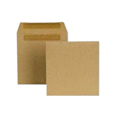 Self Seal Plain Brown Wage Packet Wallet Envelopes 102 X 108 mm