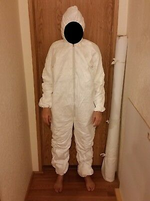 Tyvek coveralls - XL, hooded, elastic cuffs & ankles, zipper front - lots of 2