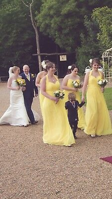 5264e9e01a47 Dessy Collection After Six Sunflower Yellow Size 16 Bridesmaid Dress Brand  New