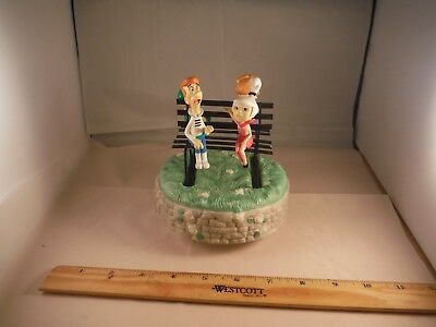 """Vintage THE JETSONS Cartoon Family """"Around The World In 80 Days"""" Music Box GIFT!"""