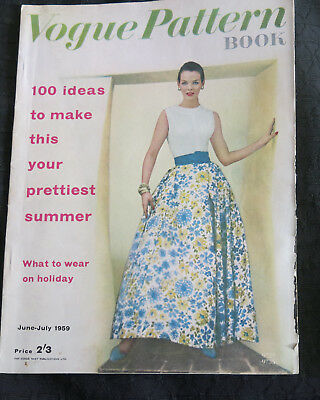 Vogue Pattern Book 1959 June July Conde Nast Publications Fashion Dressmaking