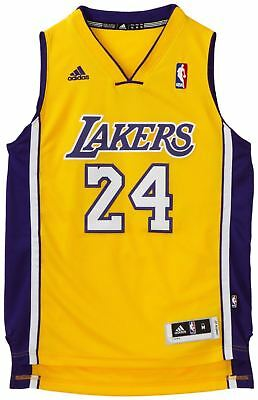 Nba Kobe Bryant La Lakers #24 Swingman Jersey Yellow S M L Xl Xxl