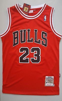 NBA Michael Jordan #23 Chicago Bulls RETRO Red swingman jersey - size:S-XXL