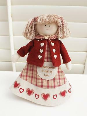 28Cm Adorable Country Doll Standing  Ornament Cotton   Gift New