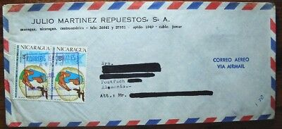 Brief Nicaragua airmail cover