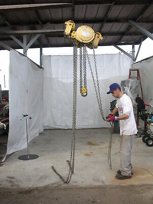 Yale Chain Hoist One Ton 1 With Trolley Military Surplus
