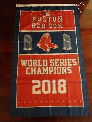 Boston Red Sox 2018 World Series 3x5 Banner. US Seller. Free ship within the US
